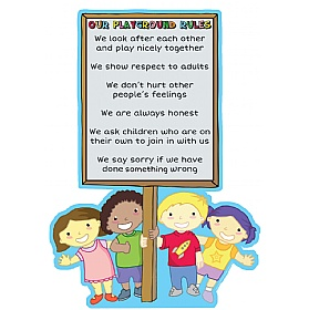 Sign On Post Playground Rules School Sign £36 - Education Furniture