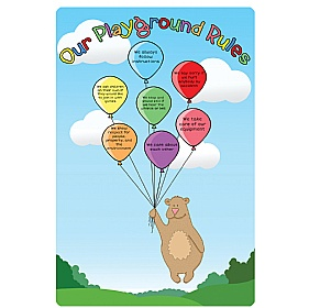 Balloons Playground Rules School Sign £0 - Education Furniture