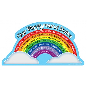 Rainbow Playground Rules School Sign £0 - Education Furniture