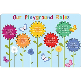 Flowers Playground Rules School Sign £0 - Education Furniture