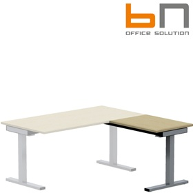 BN SQart Workstation C Leg Rectangular Desk Extension £209 - Office Desks