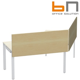 BN SQart Workstation Wooden Desktop Screen For Cluster Desks £69 - Office Desks