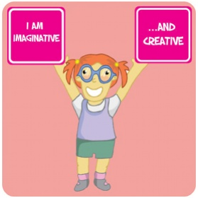 Positive Affirmation Imaginative And Creative School Sign £20 - Education Furniture