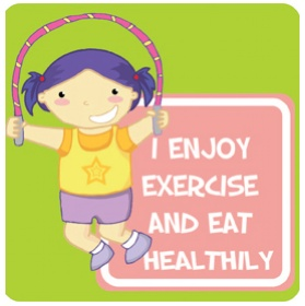 Positive Affirmation Exercise And Eat Healthily School Sign £20 - Education Furniture