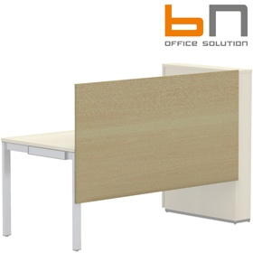 BN SQart Workstation One Piece Wooden Screen And Modesty Panel For Desks With High Organiser Towers £108 - Office Desks