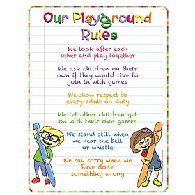 Pencil Playground Rules School Sign £0 - Education Furniture