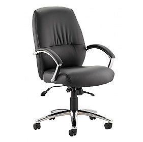 Convene Medium Back Enviro Leather Executive Chair £173 - Office Chairs