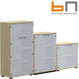 BN SQart Workstation Glass Door Cupboards £244 - Office Desks