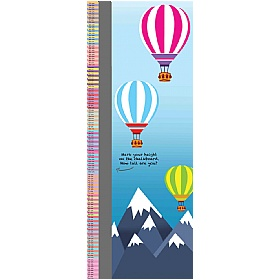 Hot Air Balloon Height Chart Sign £93 - Education Furniture