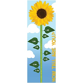 Sunflower Height Chart Sign Height Charts