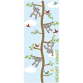 Monkeys Height Chart Sign £93 - Education Furniture