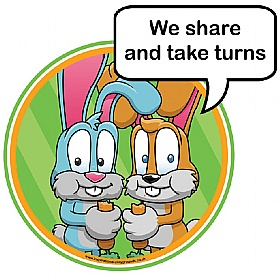 Good Manners Share And Take Turns Sign Good Manners Signs