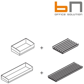 BN SQart Workstation Containers With CD Inserts For Organiser Towers £54 - Office Desks
