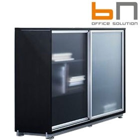 BN Primo Space Sliding Glass Door Cabinets £880 - Office Desks