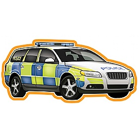 Vehicles At Work Police Car Sign £36 - Education Furniture