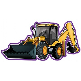 Vehicle At Work Digger Sign £0 - Education Furniture