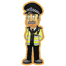 People At Work Policeman Sign £36 - Education Furniture
