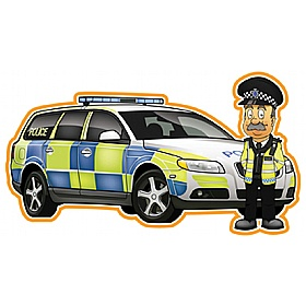 Police Car And Policeman Sign Combo £36 - Education Furniture