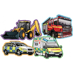 Vehicles At Work Set Of 4 Signs £0 - Education Furniture