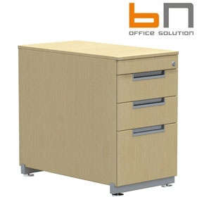 BN Primo Space Veneer Desk High Pedestals £627 - Office Desks
