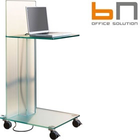BN Primo Space Glass Media Caddies £799 - Office Desks