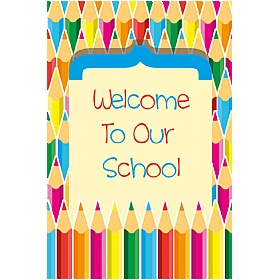 Coloured Pencils Welcome Sign £36 - Education Furniture
