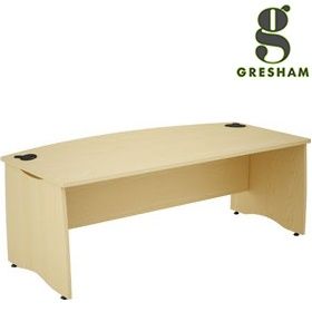 Gresham EX10 Bow Fronted Rectangular Desks £305 - Office Desks