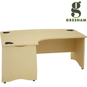 Gresham EX10 Bow Fronted Ergonomic Desks £439 - Office Desks