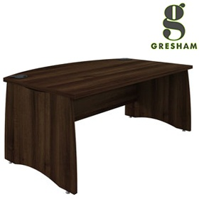 Gresham EX10 Executive Bow Fronted Rectangular Desks £418 - Office Desks
