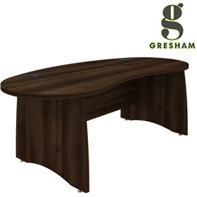 Gresham EX10 Executive Kidney Desks £553 - Office Desks
