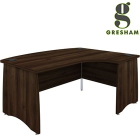 Gresham EX10 Executive Bow Fronted Ergonomic Desks £537 - Office Desks
