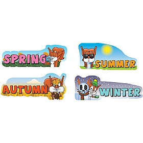 Seasons Full Set Of 4 Signs £0 - Education Furniture