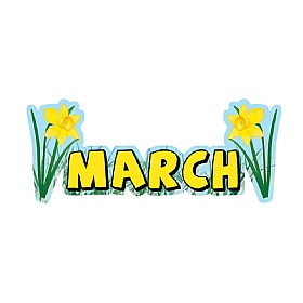 Months Of The Year March Signs £0 - Education Furniture