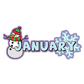 Months Of The Year January Signs £0 - Education Furniture