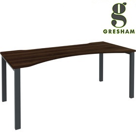 Gresham Mesa Double Wave Single Bench Desks £260 - Office Desks