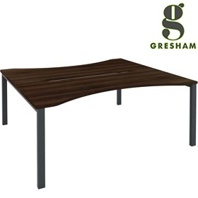 Gresham Mesa Double Wave Double Bench Desks £417 - Office Desks