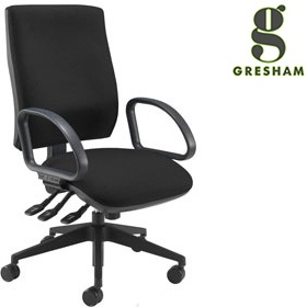 Gresham Platinum Plus Squared Medium Back Office Chair £224 - Office Chairs