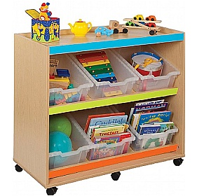 Bubblegum Angled Unit With 6 Deep Trays £0 - Education Furniture