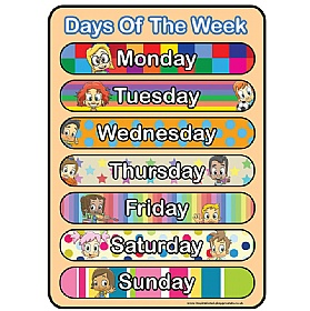 Days Of The Week Colourful Sign £36 - Education Furniture