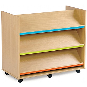 Bubblegum 3 Angled Coloured Shelves Library Unit £0 - Education Furniture