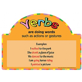 Literacy Basics Verbs Signs £36 - Education Furniture