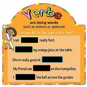 Literacy Basics Verbs Chalkboards £0 - Education Furniture