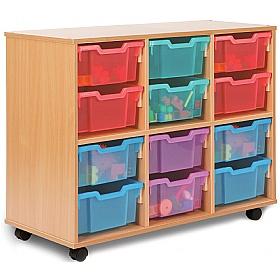 Storage Allsorts 12 Deep Jelly Tray Unit £206 - Education Furniture