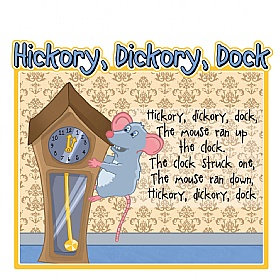 Hickory Dickory Dock Nursery Rhymes Signs £0 - Education Furniture