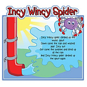 Incy Wincy Spider Nursery Rhymes Signs £0 - Education Furniture