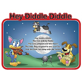 Hey Diddle Diddle Nursery Rhymes Signs £0 - Education Furniture