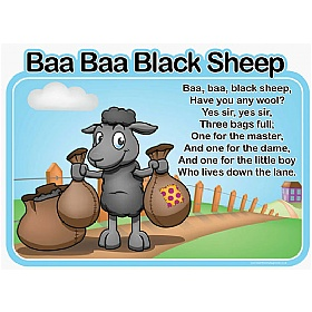 Baa Baa Black Sheep Nursery Rhymes Signs £0 - Education Furniture