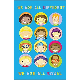 Positive Affirmation We Are All Different £0 - Education Furniture