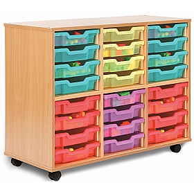 Storage Allsorts 24 Shallow Jelly Tray Unit £206 - Education Furniture