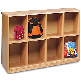 8 Compartment Bag Storage Unit £0 - Education Furniture